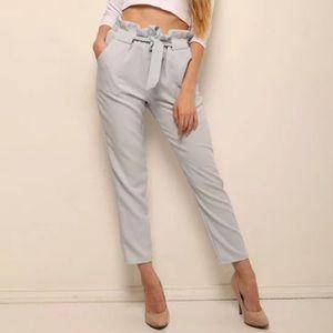 Pants - 3/$20🦩Blue Paper Bag Pants Tie Waist / Trousers